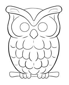 Request - Owl Lineart ~ by xXAkilaXx on DeviantArt Owl Outline, Outline Drawings, Easy Drawings, Owl Drawing Easy, Owl Drawings, Owl Templates, Applique Templates, Applique Patterns, Owl Clip Art