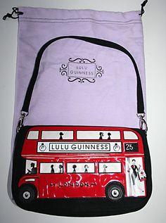 "LULU GUINNESS ""RED LONDON BUS"" MAGGY BAG...Cute"