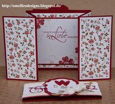 Omellie's Designs: Hochzeitskarte Z-Gate-Tag Fold Card