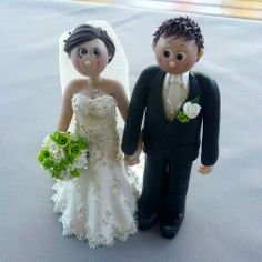 Adorable wedding toppers