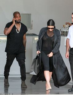 Shop till you drop: After flying back into California, Kanye West and Kim Kardashian went shopping in Malibu