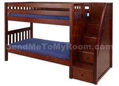 Stacker Twin/Twin LOW Bunk Bed with Staircase $1,660.00