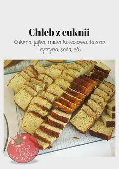 Bezglutenowy Chleb z cukinii - Paleo dla opornych Paleo, Keto Bread, Fodmap, Waffles, Low Carb, Breakfast, Dhal, Food, Morning Coffee