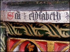 Houghton St Giles is a beautiful village on the outskirts of Walsingham. It is home to the Catholic National Shrine of Our Lady, the complex of which is on the other side of the River Stiffkey to St Giles, the Anglican Parish church.    A detail from the early 16th century rood screen.