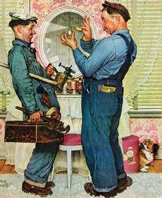 """Norman Rockwell é o mais amado dos ilustradores americanos. Das duas uma: ou você já está cansado de ver centenas das suas imagens por aí ou se é um desavidado, com certeza já passou os olhos por um dos seus vários """"Santa Claus""""…no mínimo. Mas seria impossível deixá-lo de fora dessa série, já que se (...)"""