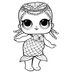 purple lol doll coloring page