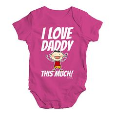 I Love Daddy This...  Rock In Style With Twisted Envy creative Art, Personalised Gifts, funny t-shirts & more,     http://twistedenvy.com/products/i-love-daddy-this-much-boy-baby-unisex-baby-grow-bodysuit?utm_campaign=social_autopilot&utm_source=pin&utm_medium=pin