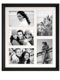 Amazon.com: Malden Home Profiles Black Matted Wall Collage Wood Frame, 5-Opening, 4-Inch by 6-Inch: Home & Kitchen