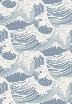 wave wallpaper cole and son Beste Iphone Wallpaper, Iphone Background Wallpaper, Aesthetic Iphone Wallpaper, Aesthetic Wallpapers, Waves Wallpaper, Cool Wallpaper, Pattern Wallpaper, Pattern Lockscreen, Cole And Son