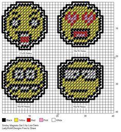 Smileys Magnet set 5