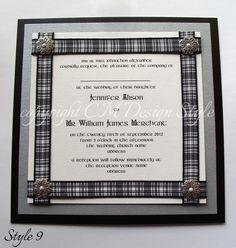 tartan #wedding invitations, handmade from http://www.cmdesignstyle.com