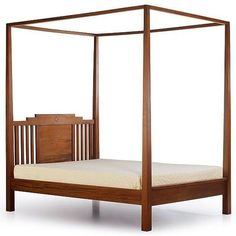 Cannisse Shaman Canopy Bed  Shaman reclaimed teak canopy bed, knock down construction tenon bolt fitting. Wide panels at the center and vertical wooden bars at left and right side of the headboard. The poster tapering on top, plain apron, wooden slats mattress suport.   Category: Beds    Size : W.165, D.225, H.230 cm    Wood : Reclaimed Teak    $389.00    Valid until January 1, 2014    Available from: Manufacturer Direct    Out of stock! Pre-Order now!