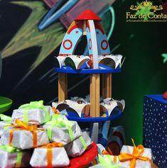 suporte para doces em forma de foguete Astronaut Party, Space Party, Jr, Sweets, Shape