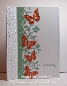 My Stamping Addiction: Sage and Orange Color Swap