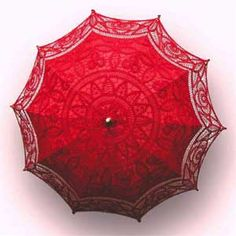 Red Battenburg Lace Parasol (I don't care if we don't use this for Richard II - I just want it) Lace Umbrella, Lace Parasol, Umbrella Wedding, Wedding Umbrellas, Umbrella Tree, Horse Wedding, Red Wedding, Wedding Stuff, Wedding Ideas