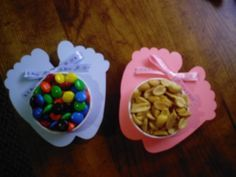 Baby Feet Nut and Candy Cups  You will love these nut and candy cups!! They are the perfect table decoration to make your Baby Shower complete. These cute feet accent any baby shower theme. Usually at baby showers, a favor with a snack inside is provided for each guest. They are intended to be put at every place setting and treat each of your guests to a candy, mint, or nut treat. Another idea is to use them at the table where the new parents or grandparents will be sitting  You will be…
