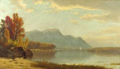 James Renwick Brevoort A Quiet Day on the Lake hand embellished reproduction on canvas by artist Hudson River School Paintings, More Images, Romanticism, Landscape Paintings, Landscapes, Impressionist, Oil On Canvas, 19th Century, Fine Art