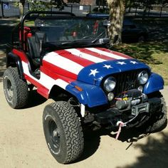 Patriotic Jeep CJ                                                                                                                                                                                 More