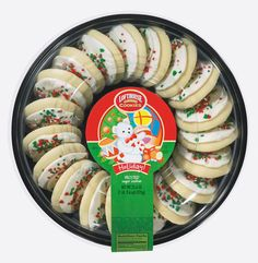 Lofthouse Holiday White Frosted Sugar Cookies Tray