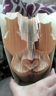Book Folding Pattern  Cat Hearts  282 Folds  Instant by CraftyHana