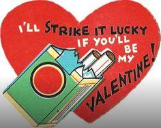 "I'll ""strike it lucky"" if you'll be my valentine Victorian Valentines, Vintage Valentine Cards, Vintage Greeting Cards, Vintage Holiday, Valentine Day Cards, Vintage Postcards, Vintage Images, Valentine Stuff, My Funny Valentine"