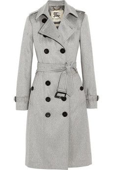 Burberry London Brushed cashmere trench coat | NET-A-PORTER