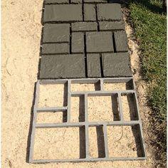 Concrete Patios, Concrete Pathway, Concrete Steps, Brick Patios, Diy Concrete, Wood Walkway, Patio Slabs, Stone Walkway, Concrete Garden