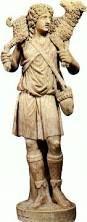 Buen pastor. El autor es desconocido La obra data del siglo IV d.C. Pertenece al estilo paleocristiano. He elegido esta obra, porque aunque no lo parezca, está relacionada con la religión. A simple vista solo se ve un pastor, pero es una escultura simbólica que representa a Jesús guiando a su rebaño.