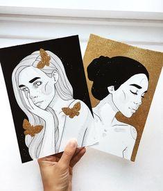 glitter love ❤️ do you want to see more gold and glitter?  #art #artsy #artist #artwork #artistsoninstagram #artlover #design #zeichnen #zeichnung #kunst #kunstliebe #künstler #makearteveryday #instaart #inktober #illustration #illustrator #edding #dinasaurusart #melbourneartist #inktober #germanartist #flowmagazin #australianartist #gold #glitter #goldglitter #blackworknow #iblackwork #tempuradesign
