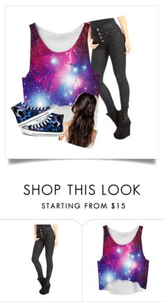 """""""Galaxy love"""" by journey-henry on Polyvore featuring Converse"""
