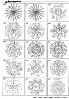 FREE DIAGRAM ~ Crocheted flowers « protsenka