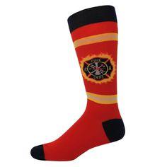 Men's Fireman Socks - Sock Wizard American Firefighter, Crazy Socks, Fire Department, Fashion, Moda, Fire Dept, Fashion Styles, Fashion Illustrations