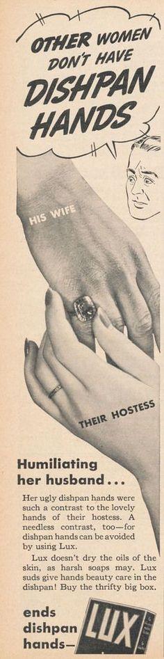 Publicité sexiste, avoir des mains abîmées est une humiliation pour son mari