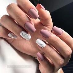 "If you're unfamiliar with nail trends and you hear the words ""coffin nails,"" what comes to mind? It's not nails with coffins drawn on them. It's long nails with a square tip, and the look has. Cute Acrylic Nails, Matte Nails, Pink Nails, My Nails, Purple Nail, Matte Pink, Autumn Nails Acrylic, Squoval Acrylic Nails, Blush Nails"