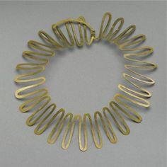 Necklace | Alexander Calder, hammered brass, circa 1938