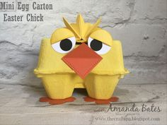 Mini Egg Carton Easter Chick. Created by Amanda Bates at The Craft Spa. Stampin' Up! Demonstrator, Instructor & Blogger in the UK. Shop Online.