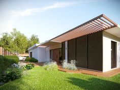 Nowoczesny pawilon z ogrodem - Architektura, wnętrza, technologia, design - HomeSquare