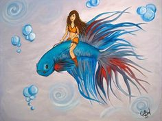 Betta Fish Ride by Caterina Bassano | Artgallery.co.uk