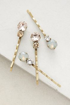 Anthropologie Celestial Drops Bobby Pins
