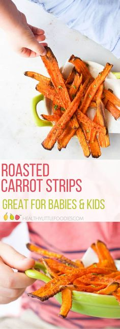 Strips of carrots ro