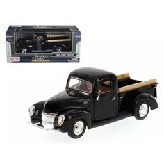 1940 Ford Pickup Black 1/24 Diecast Model by Motormax