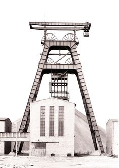 fiore-rosso:    Bernd & Hilla Becher | Winding Tower [Fosse Noeux, no.13, Nord, France 1972].