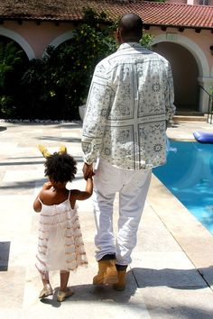 How cute and trendy are Jay Z and Blue Ivy?!