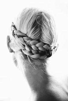 Wrapped braid up do