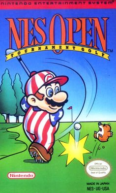 NES Open Tournament Golf - Label or Box Art #nintendo games #gamer #snes #original #classic #pin #synergeticideas #gameon #play #award