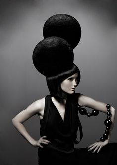 Avant Garde hair and fashion, style, black hair, hair awards, D. Machts Group, D. Machts School, hair trends, style and make-up, German Hairdressing Awards winner.