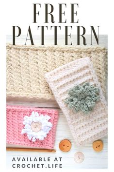 This is a free pattern for a Crochet Headband! This headband project turns out so beautiful when you add the flowers! You can crochet one to keep your head warm during the winter or to give as Christmas gifts! Try this easy crochet headband pattern today! Diy Crochet Patterns, Diy Crochet Projects, Free Crochet, Crocheting Patterns, Kids Crochet, Hat Patterns, Crochet Stitches, Diy Projects, Easy Crochet Headbands
