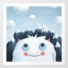 Looking Up Art Print by Greg Abbott - Cute! And available for purchase. [: