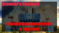 In this video i am doing announcements and shout-outs and updates. One announcement is that i will no longer be doing the Portal Mod Series, i am discontinui. Lets Play, Shout Out, Announcement, Cities, Channel, Skyline, Let It Be, Youtube, City