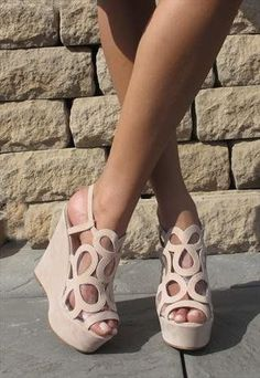 Romantic Embellished Wedge Shoes